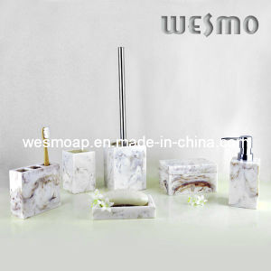 Imitation Marble Polyresin Bathroom Accessories (WBP0248A) pictures & photos