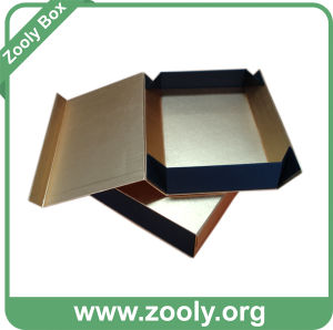 Metallic Golden Paper Gift Box / Rigid Cardboard Folded Box pictures & photos