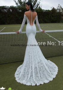 Lace Bridal Gowns Sheer Long Sleeve Berta Wedding Dresses Z2079 pictures & photos