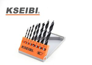 Good Quality Plastic Case Kseibi Wood Brad Point Wood Drill Bit Set pictures & photos