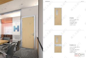 Fashion Design Aluminum Frame MDF Door for Office pictures & photos