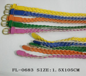 PU Braided Belt Fl-0683 pictures & photos