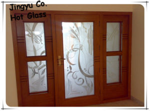 Hot Sale Acid Etched Glass for Shower Rooms with Discount pictures & photos