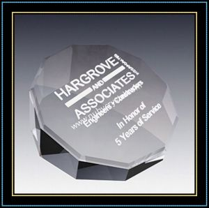 Decagon Crystal Paperweight for Office Gift pictures & photos