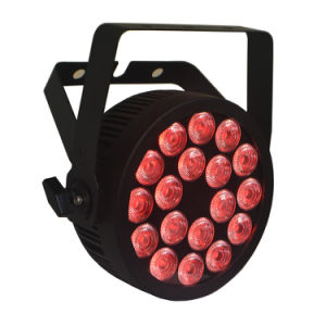 Powercon Slim Compact RGBWA UV Stage Light LED PAR with Ce Certification (18HX) pictures & photos