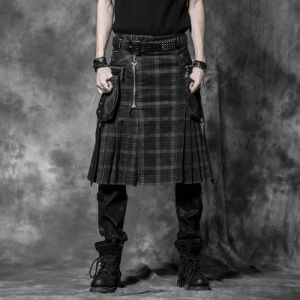 Punk Rave Wholesale Gothic Black Men Skirts (Q-225) pictures & photos