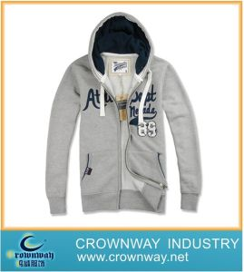 Men′s Fashion Knitted Combed Cotton Hoodie with Long Zip pictures & photos