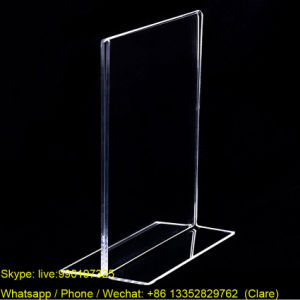T Shape Clear Acrylic Poster Display Frames pictures & photos