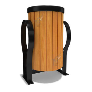 Plastic Wood/Stainless Steel/Aluminum Trash Can Supplier (TEL0452)