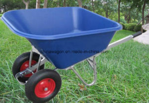 Heavy Duty Double Wheels Wheelbarrow for American Market pictures & photos