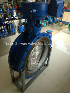 High Performance Hard Metal Seal Triple Eccentric Butterfly Valve pictures & photos