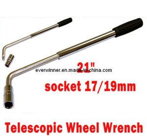 "21"" Telescopic Extending Wheel Brace Wrench Socket Spanner Car Van Lorry 17/19mm pictures & photos"