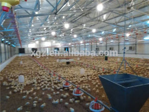 Prefab Poultry House/Professional Steel Structure Prefab Chicken House/Chicken Farm pictures & photos