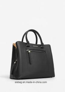 Cross Grain PU Leather Handbag Zip Hand Bag for Women pictures & photos