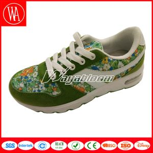 Lace-up Children Running Shoes with Flowers Printing