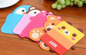 Food Grade Silicone Cup Mat/Drink Cup Coaster pictures & photos