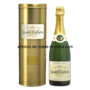 Custom High Quality Wine Gift Boxes, Wine Tin Box/ Round Wine Tin Box, Tin Box for Wine (XJ-035Y)