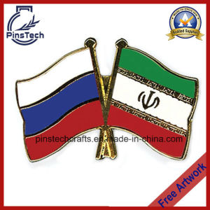 Custom Hard Enamel National Flag Pin, Paypal Accepted pictures & photos