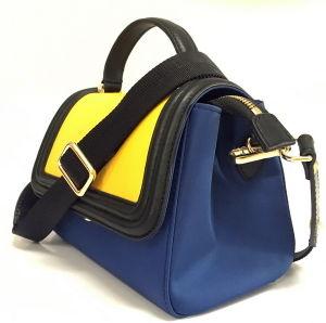 China Wholesale Satchel Leather Handbag Mini Nylon Leather Handbag (BS16001) pictures & photos