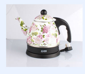 Kitchen Appliance Enamel Electric Boiling Water Kettle pictures & photos