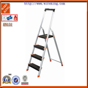 Household Aluminium Steps Ladder with TUV GS En131 ANSI Approval (WK3014c)