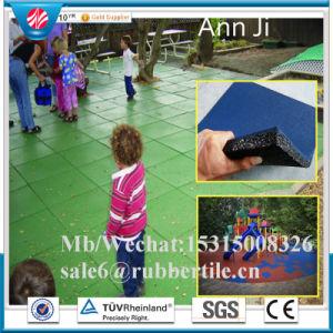 Playground Rubber Tiles Kindergarten Rubber Stable Tiles Playground Rubber Flooring pictures & photos