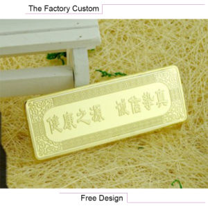 Promotion Gift Commemorative Gold Bars Customized pictures & photos