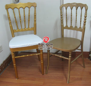 Hotel Metal Golden Color Napoleon Chair for Wedding pictures & photos