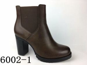 Women PU Shoes Young Lady Fashion Ankle Boots pictures & photos