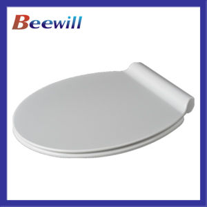Soft Close Comfortable Flat Design Toilet Seat Cover pictures & photos