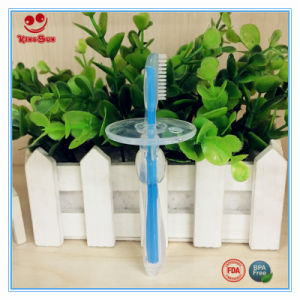 Blue Color BPA Free Safety Baby Toothbrush with Handle pictures & photos
