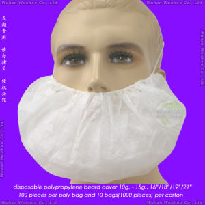 Disposable Polypropylene Nonwoven Beard Cover with Single Head-Loop or Double Ear-Loops pictures & photos