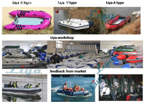 Liya 2m-3.6m Small Funny Inflatable Boat Row Boat Supplies pictures & photos