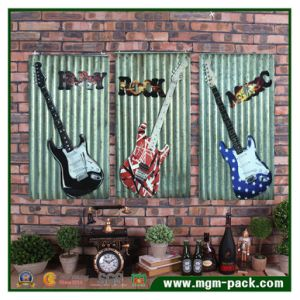 Wholesale Decorative Metal Wall Art Painting of Guitar pictures & photos