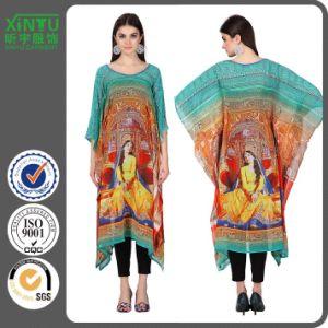 2017 Popular Summer Georgette 3/4th Sleeves Printed Kaftan pictures & photos