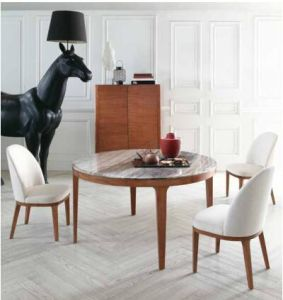 Natural Stone /Marble Dining Table with Round Shape pictures & photos