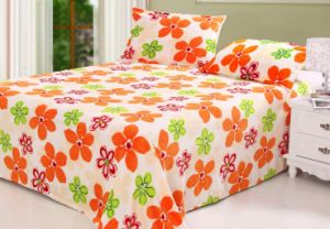 Printed Coral Fleece Bedding Set