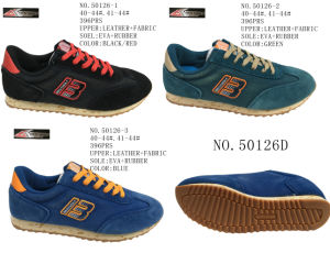 No. 50126 Three Colors Men Casual Stock Shoes pictures & photos