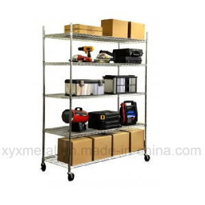 Chrome Steel Mobile Wire Shelf pictures & photos