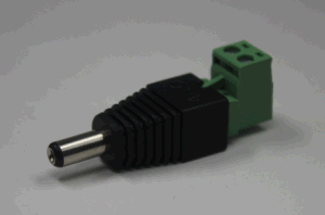Green L Type with Screw 12V 5.5/2.1mm Male and Female DC Power Connector pictures & photos