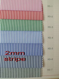 2 mm Stripes Plain Cotton Woven Shirt Fabric pictures & photos