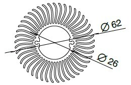 Aluminium Heatsink/Radiator Profiles