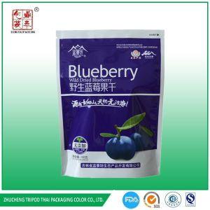 Stand up Aluminum Foil Dride Fruit Buleberry Packaging Bag