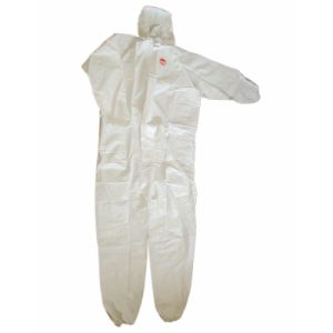 Safety Industrial White Disposable PP Work Coverall pictures & photos