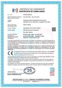 500L 3 Pump Body High Pressure Homogenizer (GJB500-40) pictures & photos