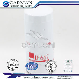 Oil Filter for Cummins Generator (LF667) Oil Filter Lf667 for Caterpillar and for Renault Trucks Volvo Cummins Truck pictures & photos