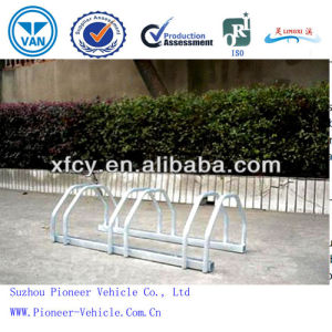 Hot-Dipped Galvanizing Floor Mounted Bicycle Parking Stand (ISO Approved) pictures & photos