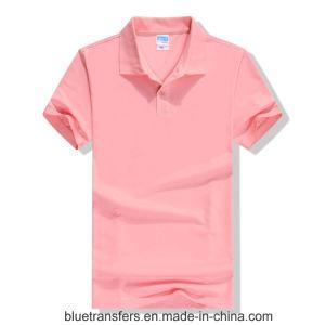 Men′s Polo Short T-Shirt CVC pictures & photos