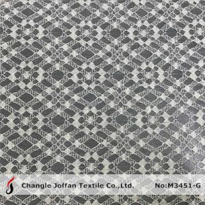 Geometric Nylon Cord Lace Fabric (M3451-G) pictures & photos