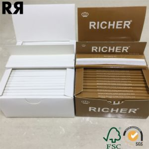 Richer 14 GSM Unbleach Hemp Cigarette Tobacco Smoking Rolling Paper with Filter Tips pictures & photos